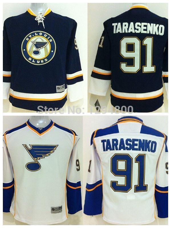 sale retailer a246a 965b6 2016 Youth Cheap #91 Vladimir Tarasenko Jersey St. Louis Blues Jerseys Navy  Blue Stitched Jersey Kids Ice Hockey Jerseys Best Quality