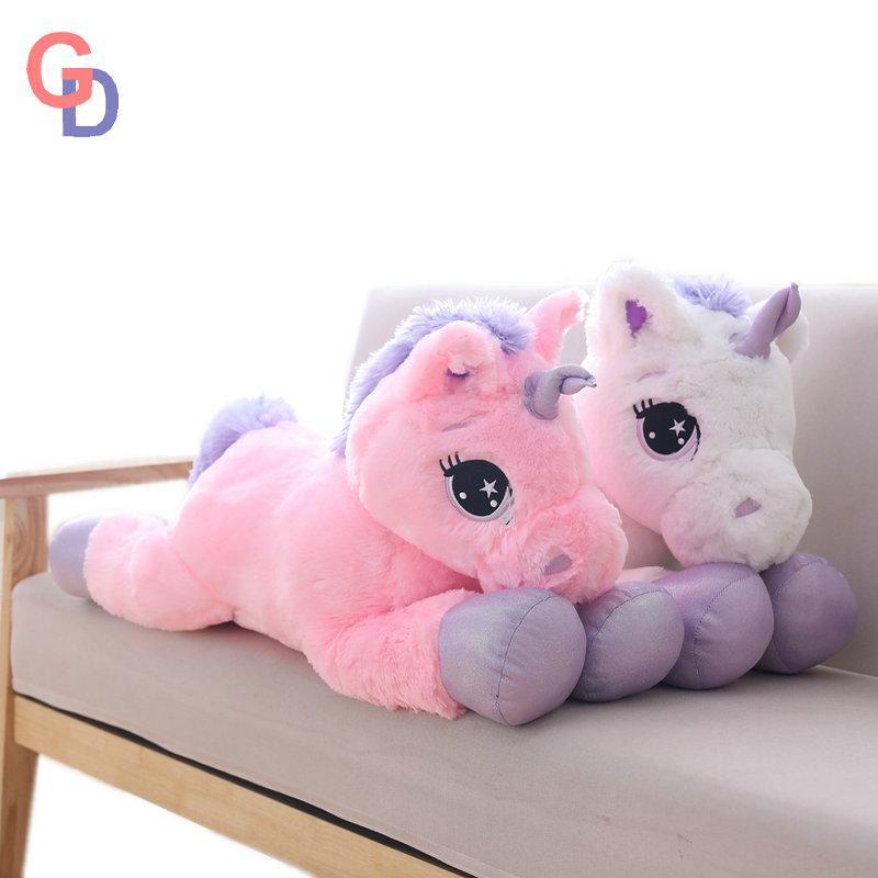 2019 Purple Unicorn Stuffed Toys Giant Pink Unicorn Plush Pillow Big