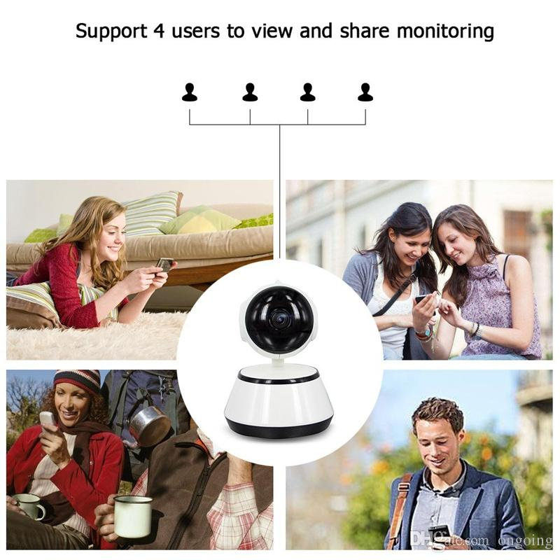 2019 New V380 HD 720P IP Camera WiFi Wireless Smart Security Camera Micro SD Network Rotatable Defender Home Telecam HD CCTV IOS PC