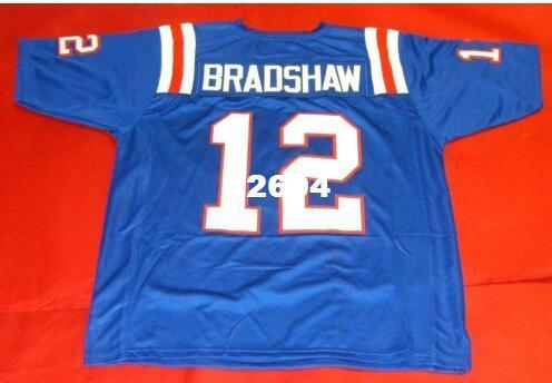 buy popular aef05 96940 Men CUSTOM #12 TERRY BRADSHAW CUSTOM LOUISIANA TECH BULLDOGS College Jersey  size s-4XL or custom any name or number jersey