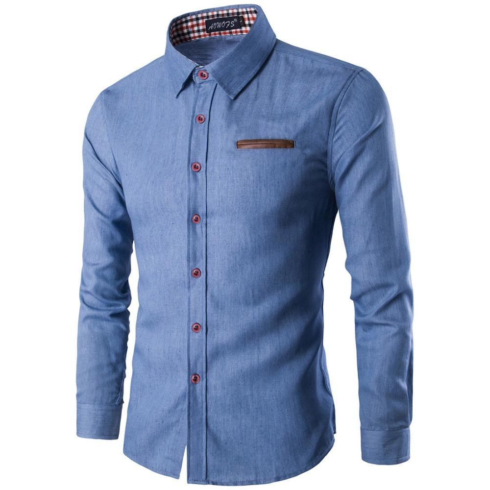03be04a99 2018 New Arrival Casual Business Men Dress Shirts Luxury Brand Long Sleeve  Cotton Stylish High Quality Males Social Shirts 3XL
