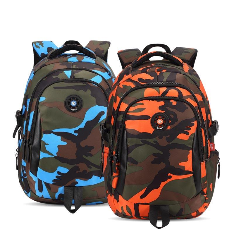 d7f623b5516f 2019 3 Sizes Camouflage Waterproof Nylon School Bags for Girls Boys  Orthopedic Children Backpack Kids Bag Grade 1 - 6 Mochila Escolar