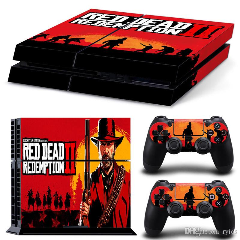 Playstation 4 skins for Game Red Dead Redemption 2 Cover PS4 Slim  Protective Console System Controller RDR2 Good Kids Friends Gift