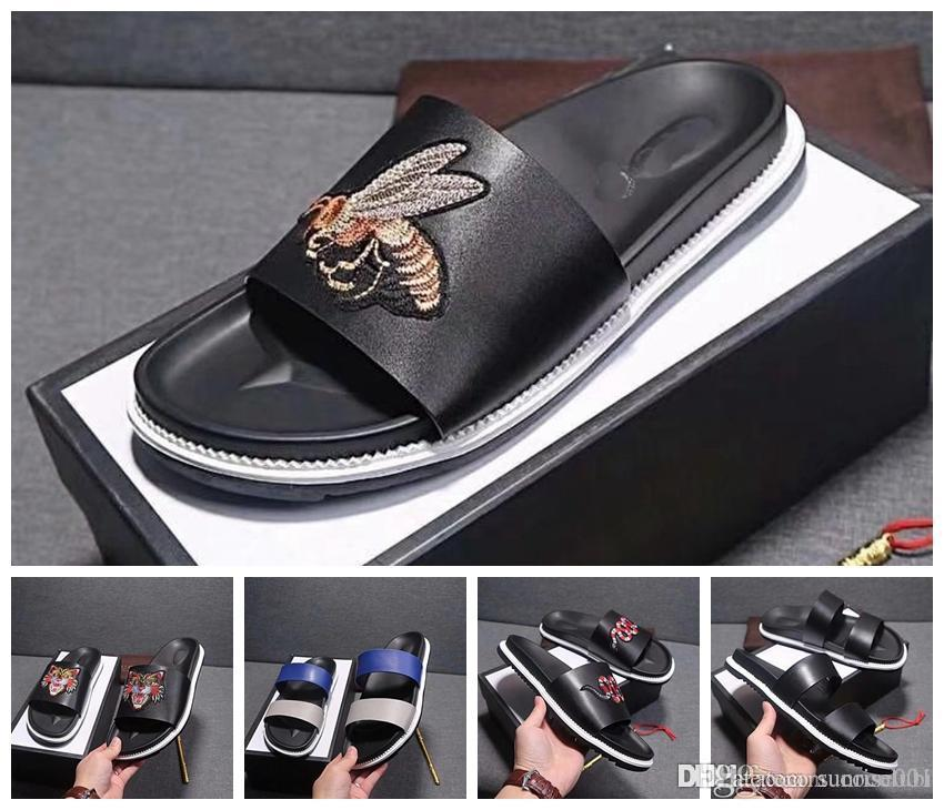 4da46acacfc7 With Box Slipper Designer Rubber Slide Sandal Floral Brocade Men ...
