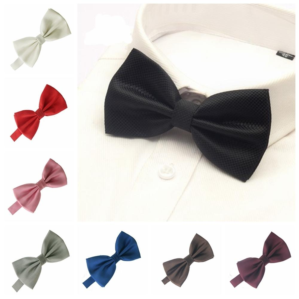 a6584877e0bc Men Bowtie For Mens Bow Tie Solid Bowties Black Bowtie Gold Bow Tie Red  Green Pink Blue White Bow Ties Men Classic Chelsea Bow Tie Bow Tie Theater  From ...