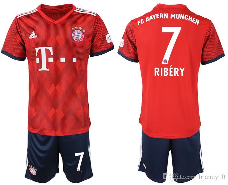 438119ac8b17c Compre Camiseta De Fútbol 2018 2019 Müller RIBERY ROBBEN LEWANDOWSKI  Camisetas De Fútbol Bayern Munich Uniformes De Fútbol Kits Para Niños A   19.1 Del ...