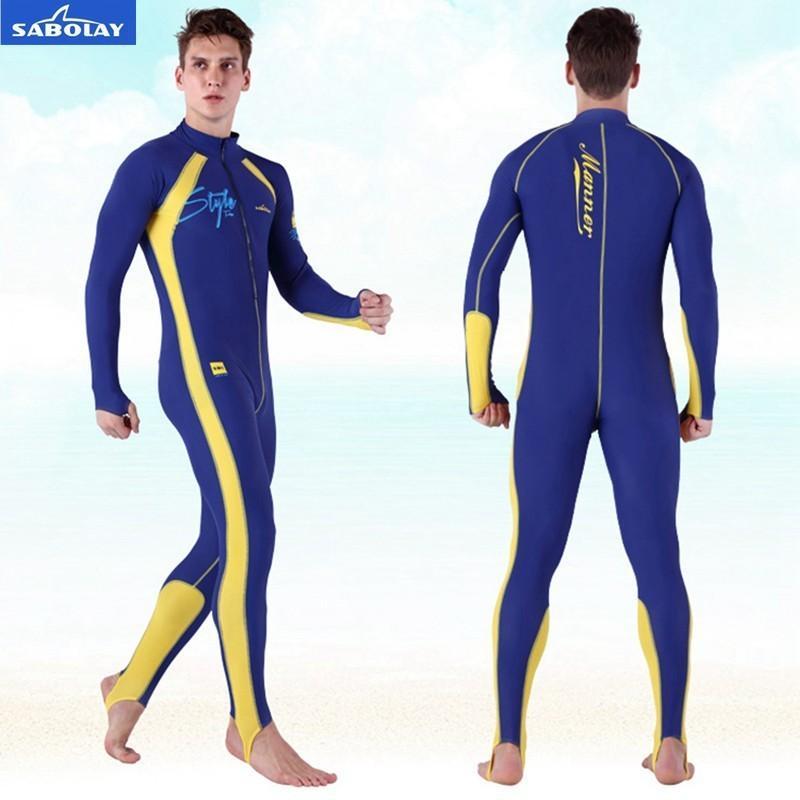 d5a75824d11c Compre Sabolay Men De Una Pieza Sianese Profesionales Camisas De Natación  Rashguard Traje De Baño Surf Buceo Protector Solar Traje De Baño Protección  Contra ...