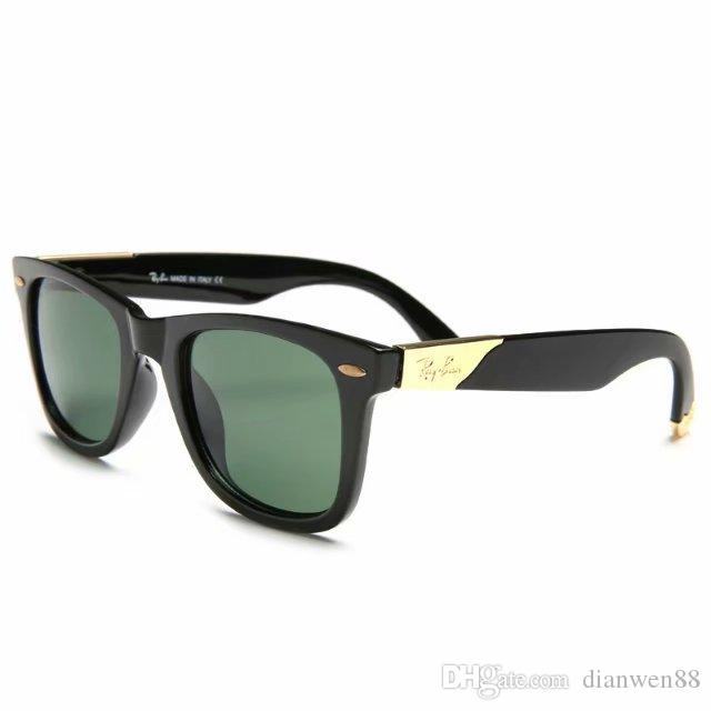 75db2fce4a10 Dark Green Lenses Sunglasses Brand Mens Womens Designer Sun Glasses ...