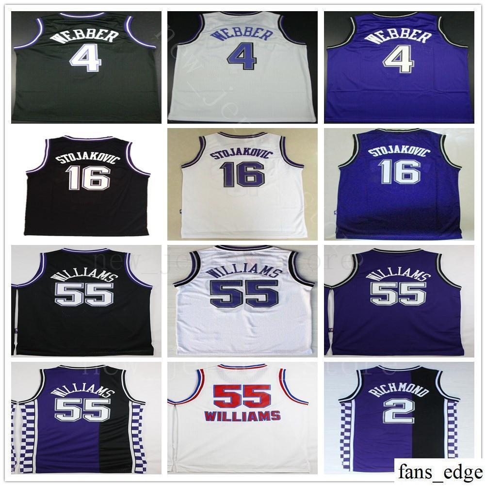 bcaab5a3d 2019 NCAA College Retro  4 Chris Webber Jersey 16 Peja Stojakovic 35 Marvin  Bagley III 55 Jason Williams Basketball Jerseys Purple Black White From ...