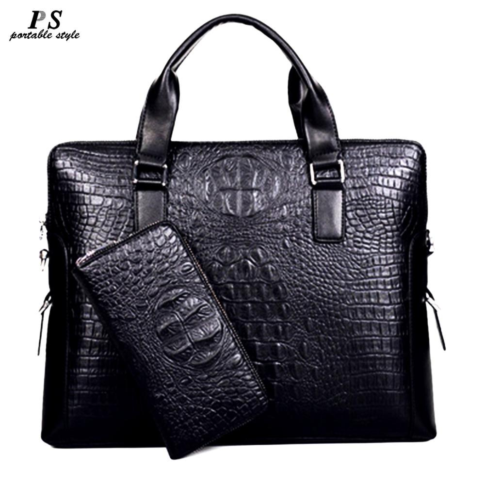 341cd9a8f 2019 New Men Messenger Bags Genuine Leather Bag Men Briefcase Designer  Handbags High Quality Famous Brand Business Bag Leather Holdall Men Bags  From Fwfling ...