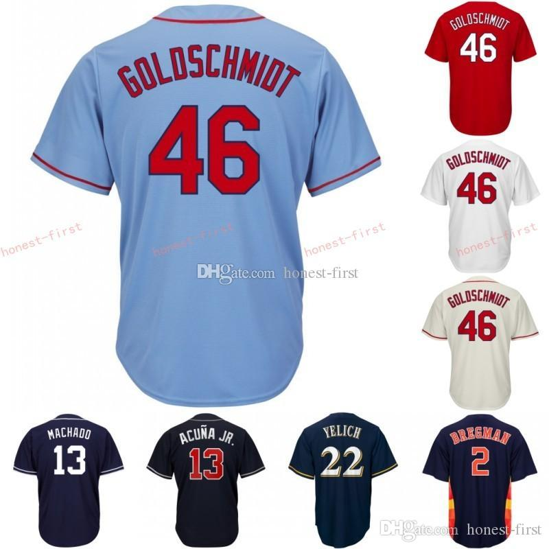 37a6549d5c7 2019 46 Paul Goldschmidt St. Louis Jersey Cardinals Embroidery Men S ...