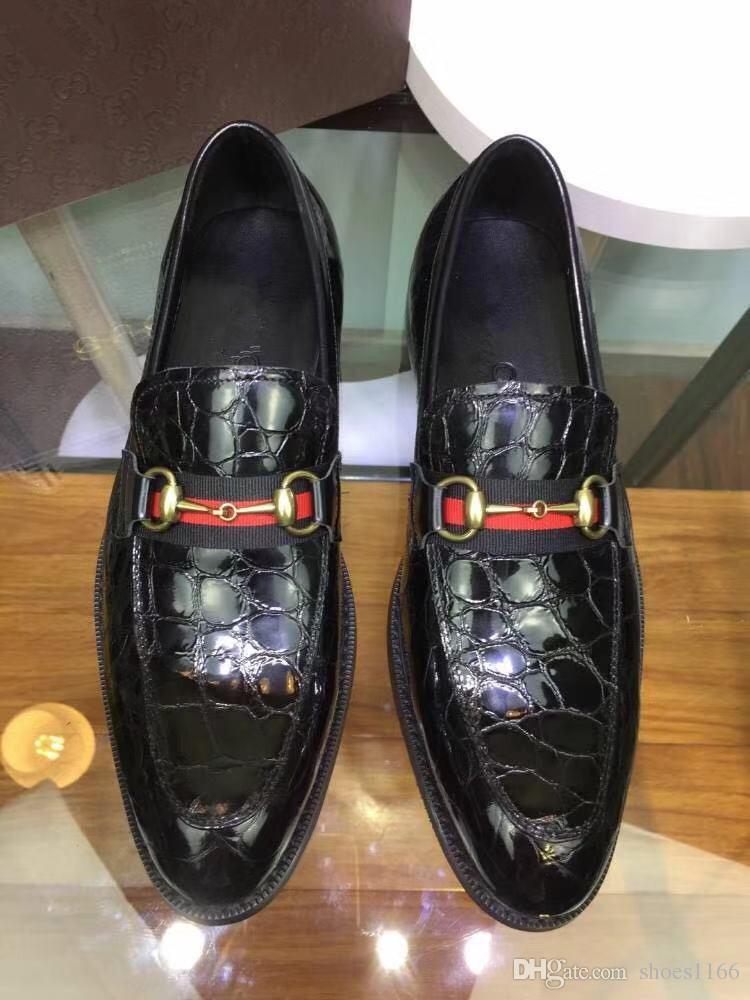 Satın Al 2019 Yılında Yeni Timsah Derisi Kış Erkek Takım Ayakkabı