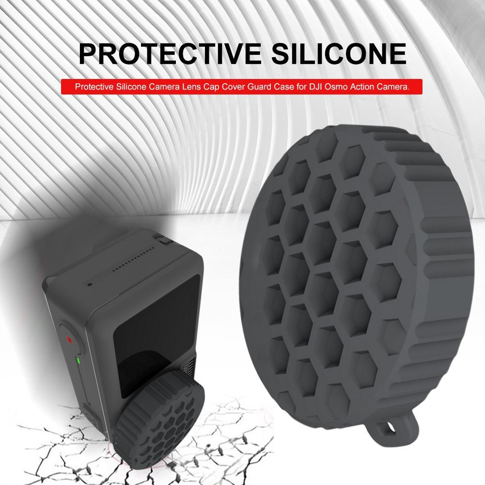 Silicone Protective Lens Cover For DJI Osmo Action Sport Camera Lens Protector Cap Case Accessories For DJI Osmo Action Camera
