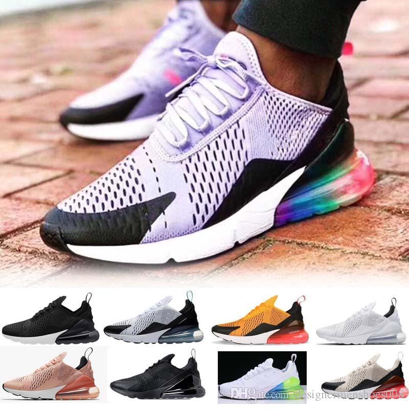 2019 Designer shoes men women Nike 270 AIR MAX TN Cushion Sneakers Sports Designer Mens Running Shoes Trainer Road Star Iron Women Sneakers Tamaño