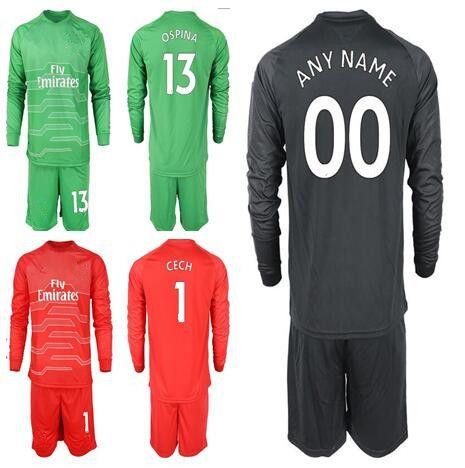 d4a0b7cb441 2019 18 19 Soccer Goalkeeper 1 Petr Cech Jersey Set Men 13 David Ospina 19 Bernd  Leno Football Shirt Kit Custom Name Number From Zhuhao2
