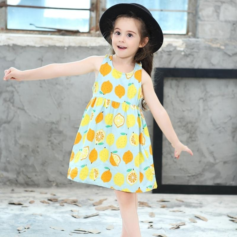 b60a940b930f 2019 Summer Holiday Dress Baby Girl 2019 Toddler Princess Dress For Party Robe  Infant Kids Fashion Cool Girls Lemon Dresses From Westbit11