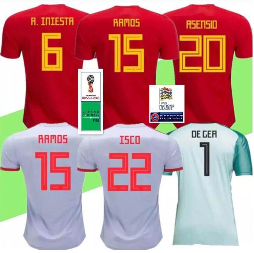 479959c93a5 2019 Player Version 2018 Spain Asensio ISCO RAMOS MORATA Soccer Jerseys  2019 Espana Camisetas PIQUE INIESTA DIEGO COSTA Goalkeeper De GER Shirts  From ...