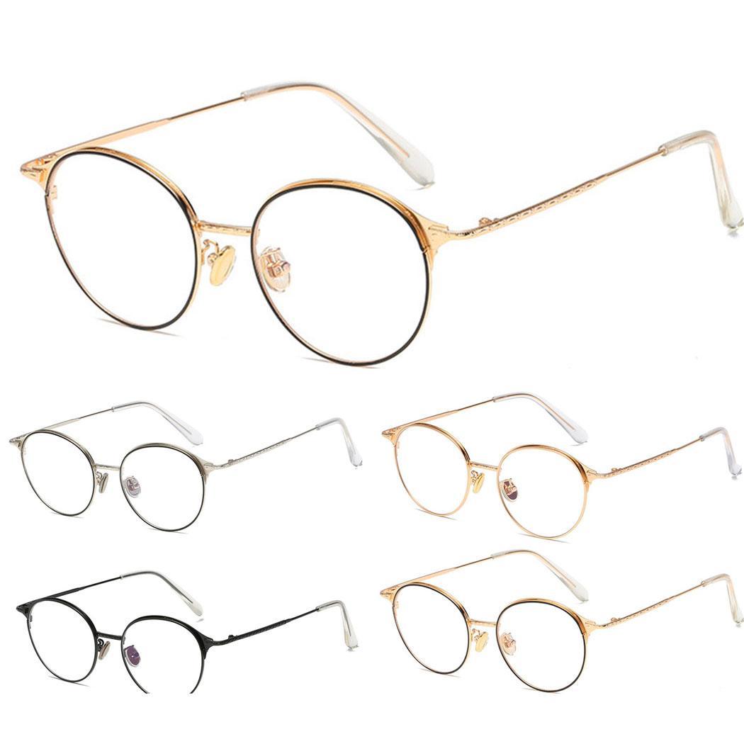 1e501113d13 2019 Women Men Glasses Frame Classic Metal Frame Round Flat ...