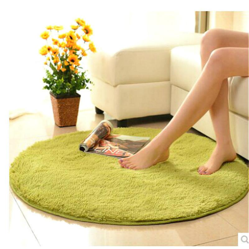 40*40cm Home Decor Bedroom Mat Door Floor Carpet Puzzle Mat Fluffy Round Foam Rug Non Slip Shower Mats Blanket