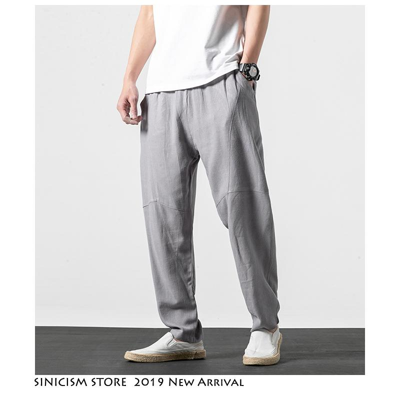 1a9e7ee860 2019 Sinicism Store Men Streetwear Harajuku Harem Pants 2019 Mens Chinese  Style Vintage Sweatpants Male Cotton Linen Joggers Pants From Frenzen, ...