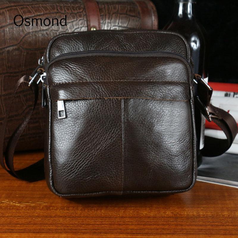 2cdba660a0 Osmond Genuine Leather Men Shoulder Bags Pop Sale Male Handbag Small  Crossbody Messenger Bag Travel Bolsa Men s Business Bag Cross Body Bags  Handbags ...