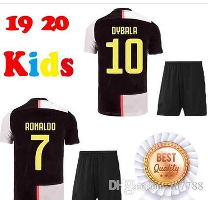 new concept 141a5 70b00 juventus soccer Jersey kids kit 19/20 RONALDO DYBALA BONUCCI PJANIC 2019  2020 boys camiseta de futbol Shirt uniforms kits maglia da calcio