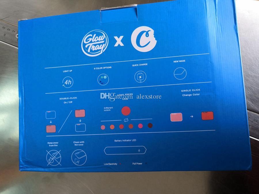 Bandeja Del Balanceo recargable Galletas resplandor del cigarrillo bandeja 550mAh Built-in Battery LED Glowtray de carga rápida Runtz con el paquete al por menor DHL
