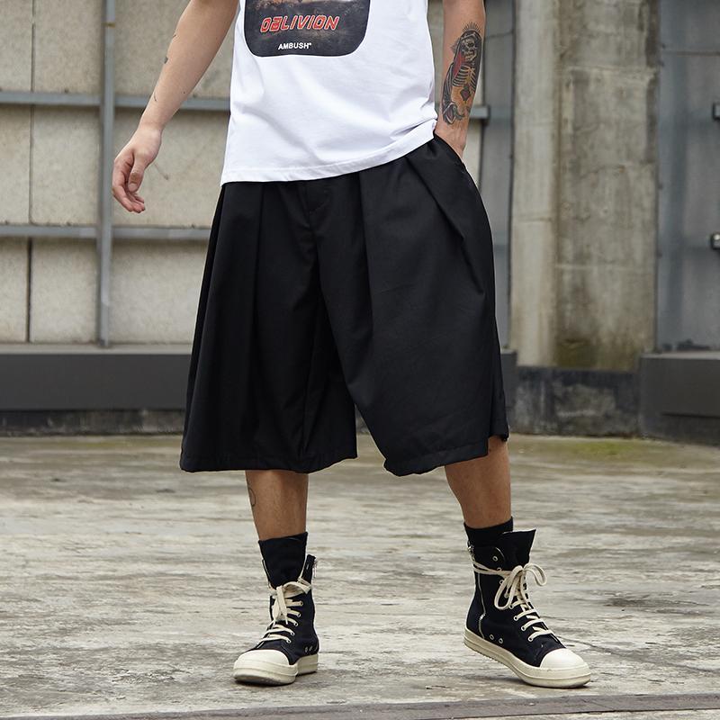 d670f3a8b Hombres Streetwear Hip Hop Punk Gótico Flojo Casual Falda Pantalón  Masculino de gran tamaño Kimono de pierna ancha Pantalones Harem