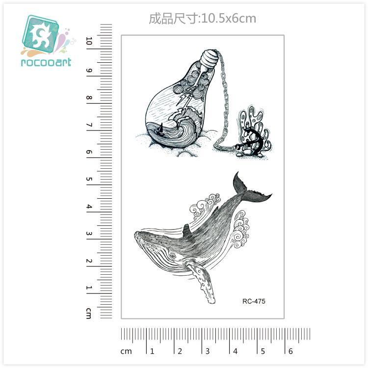18 Different New Black Body Bird Swallow Tattoo Waterfproof Fake Hummingbird Temporary Tattoo Sticker For Women