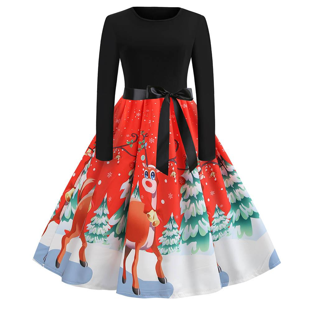 Christmas Vintage Women Dresses