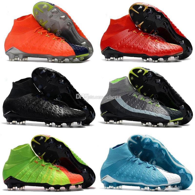 fbf3944b616 2019 2018 Mens Soccer Cleats Hypervenom Phantom III EA Sports FG Soccer  Shoes Soft Ground Football Boots Cheap Rising Fast Pack Neymar Boots New  From Cherin ...