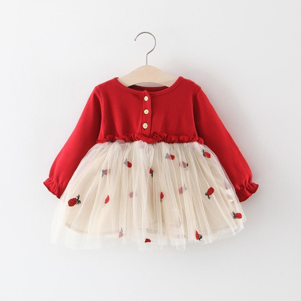 6fc8c592fbaf1 quality fashion children girls dresses spring autumn cartoon cotton mesh  dress for kids long sleeve party dress girls clothing