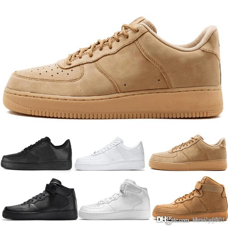 nike air force 1 one 2019 Barato 1 Utility Classic Black White Dunk Hombres Mujeres Zapatos casuales red one Sports Skateboard High Low Cut Wheat Entrenadores Zapatillas de deporte