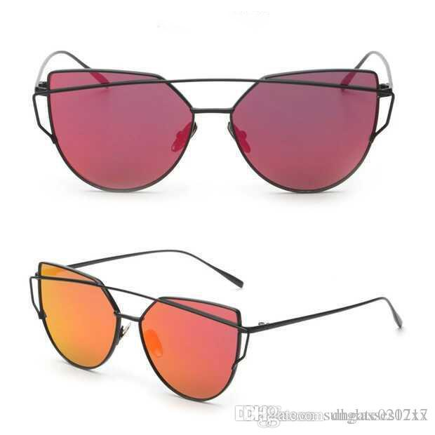 Compre Nova Marca De Moda Designer De Olho De Gato Mulheres Óculos De Sol  Feminino Gradiente Pontos Óculos De Sol Grande Oculos Feminino De Sol Frete  Grátis ... 266ca5d511