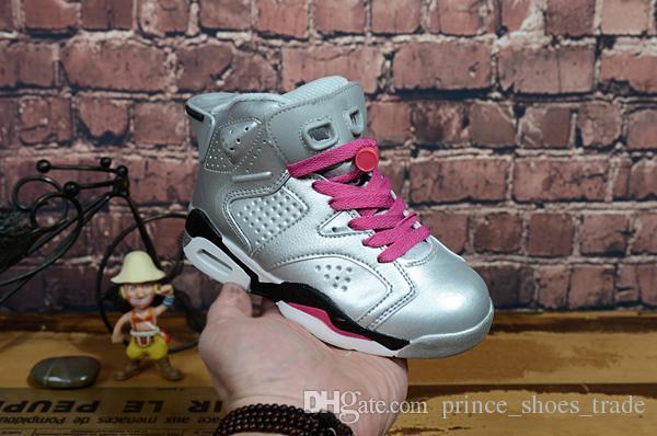 Nike air max jordan 6 retro Atacado New Discount Crianças 6 bebê Sapatos de Basquete unc ouro preto vermelho kid 6 s Meninos Sneakers Crianças Esportes formadores baixos tamanho 28-35