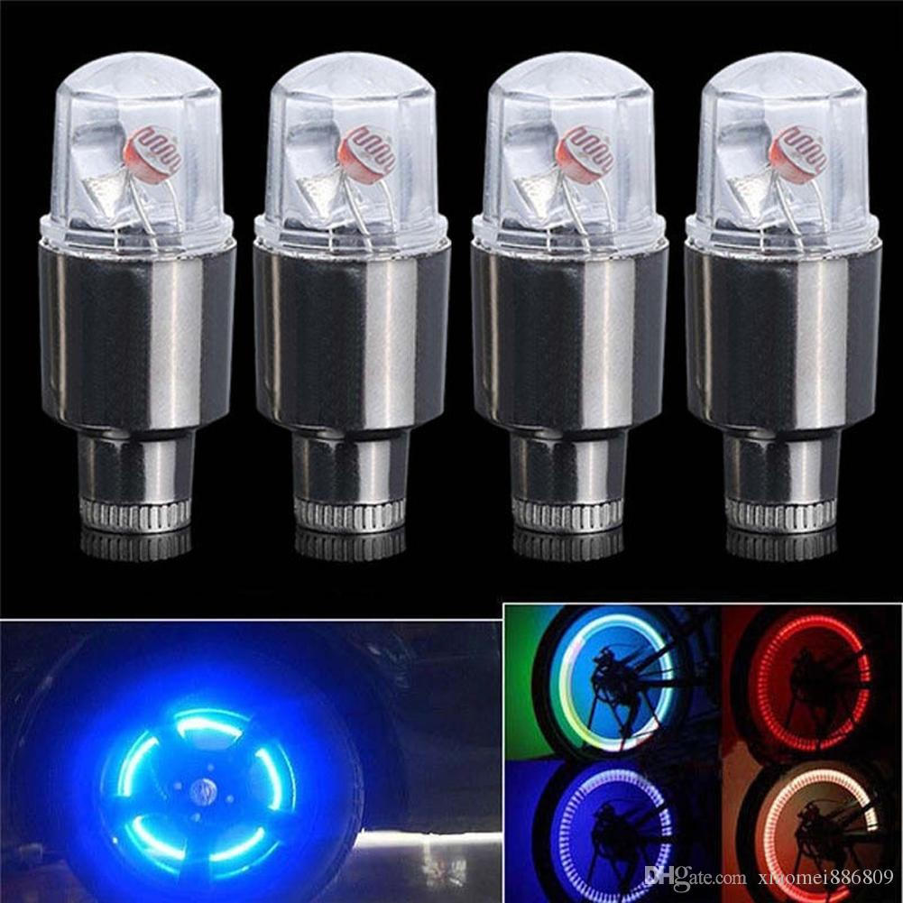Auto Car Bike Bicycle Cycling Wheel Spoke Wire Tyre Bright LED Flash Light Lamp