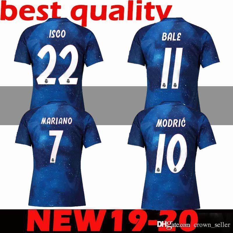 db5094b0adc 2019 Real Madrid EA Sports Soccer Jerseys ASENSIO MODRIC Soccer Jersey  Football Shirt RAMOS Camiseta 19 20 Real Madrid Third Red Maillot Custom  From ...