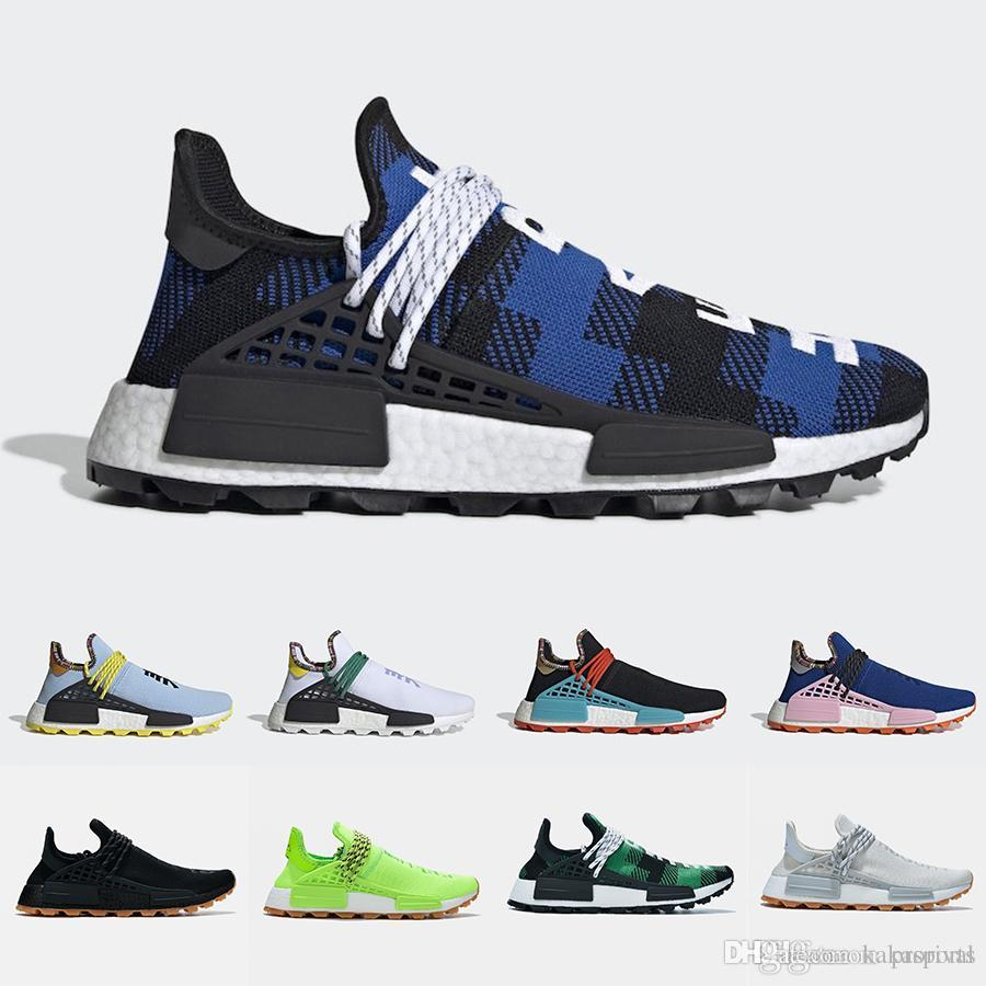 2019 Human Race X BBC trail Running Shoes Know Soul Gum Pack Men Women Pharrell Williams HU Heart Mind Inspiration Solar sports sneakers