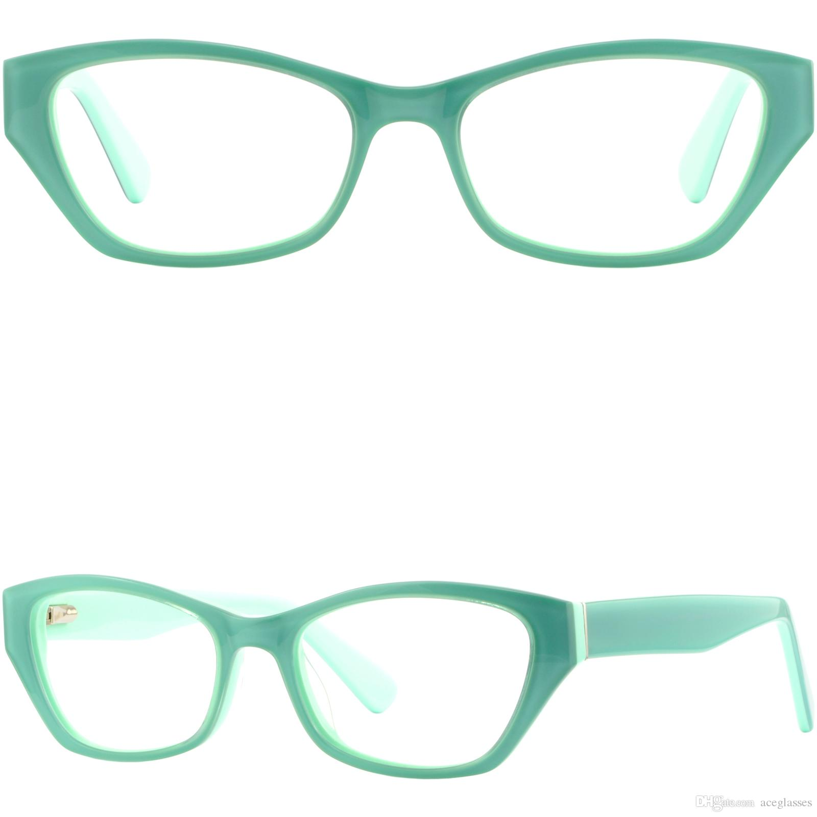 ab6a19a61c Cateye Women S Acetate Plastic Frame Green Prescription Eyeglasses Spring  Hinges Cheap Eyeglass Frames Online Custom Eyeglass Frames From Aceglasses