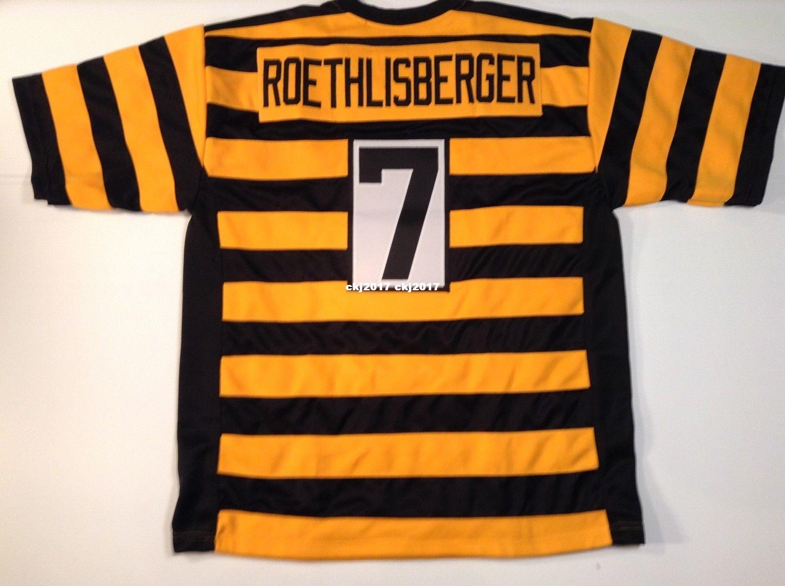 a7d911e47 2019 Cheap Retro Custom Sewn Stitched  7 Ben Roethlisberger ...
