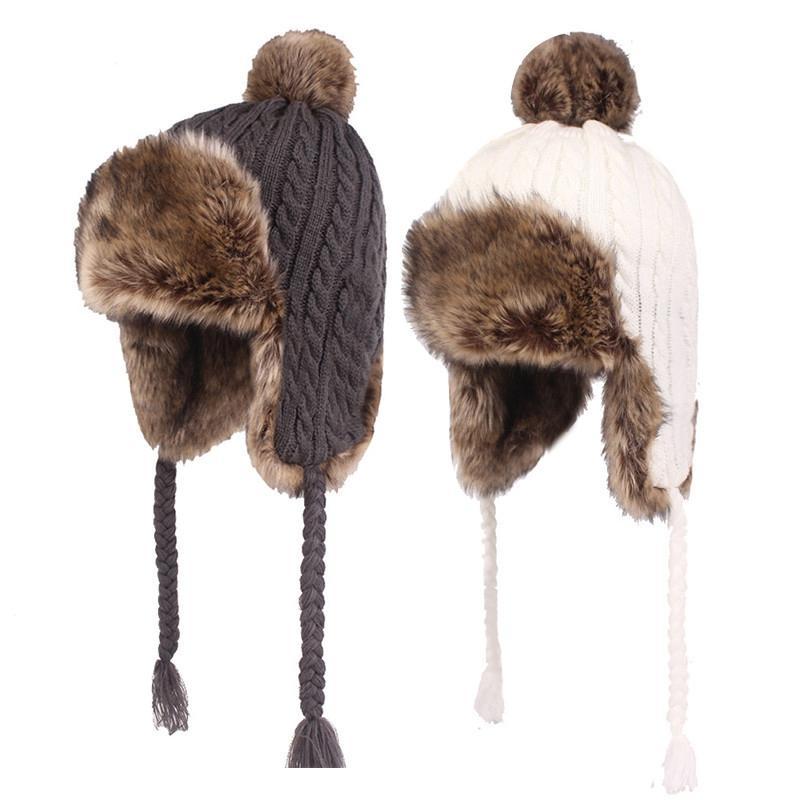 48c37a89355 2019 2018 New Men Women Russian Trapper Hat Winter Hat For Men Women Earflap  Bomber Hats Caps Scarf Winter Warm Trooper Earflap Cap From Jutie