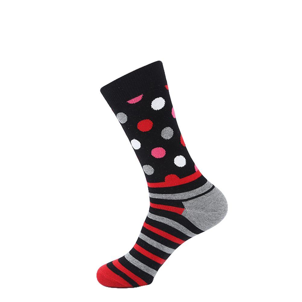 YEADU Men's Funny Combed Cotton Socks Sea Food Pattern Casual Socks Dress Crew Socks
