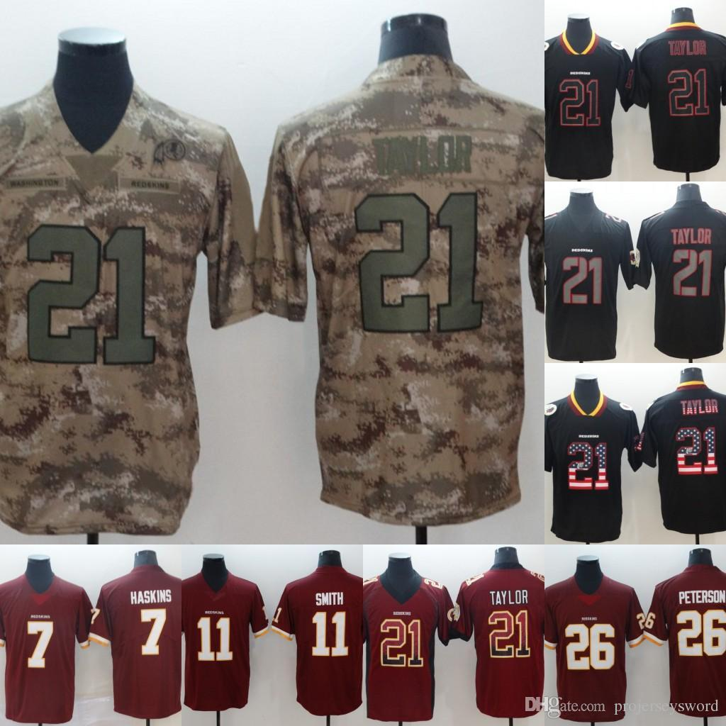 pretty nice 1aea1 76fa8 Mens Redskins 26 Adrian Peterson 11 Alex Smith 29 Derrius Guice 21 Sean  Taylor Football Jerseys Cheap Wholesale Fast Shipping S-XXXL