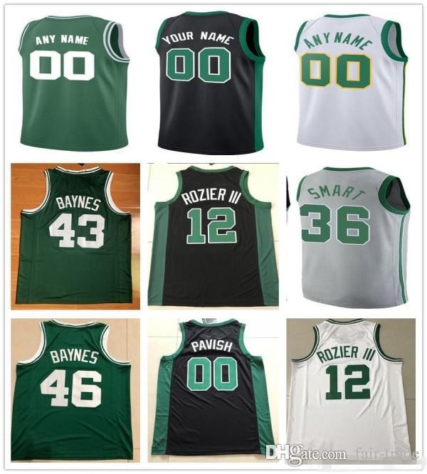 Custom 2019 Basketball Jersey Boston Kyrie Jayson Irving Tatum ... 833d51b5c
