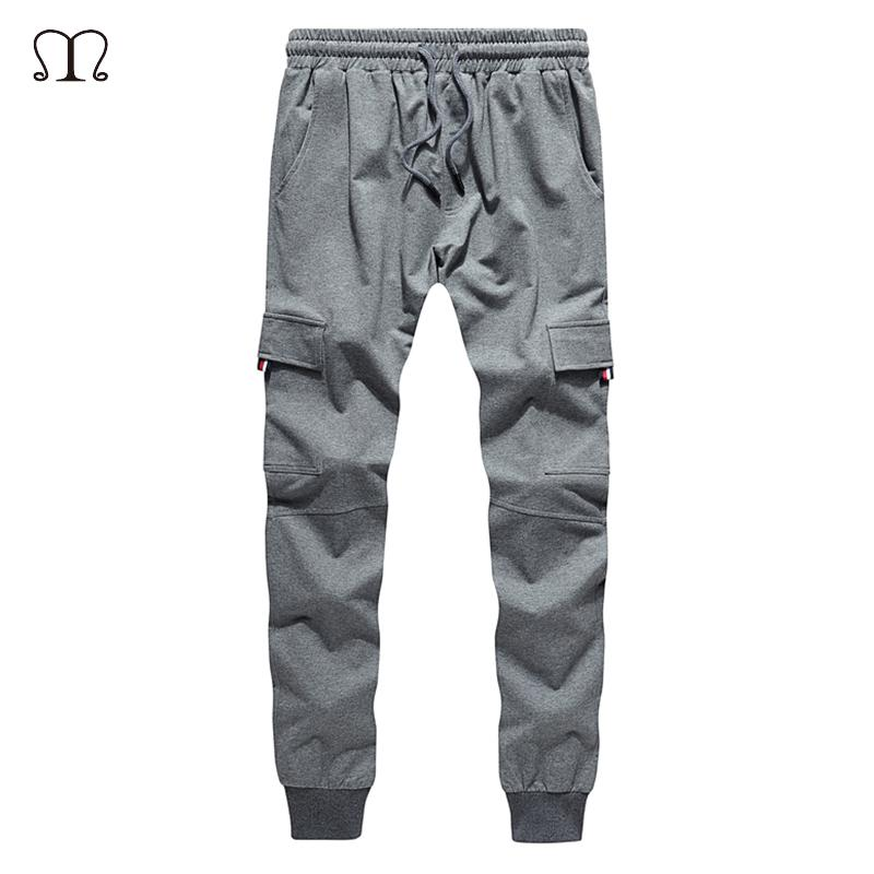 d17af40b81 2019 Tracksuit Bottoms Casual Cotton Sweatpants Mens Joggers Striped  Trousers Gyms Sweat Pants Male Sportswear Cargo Slim Fitted