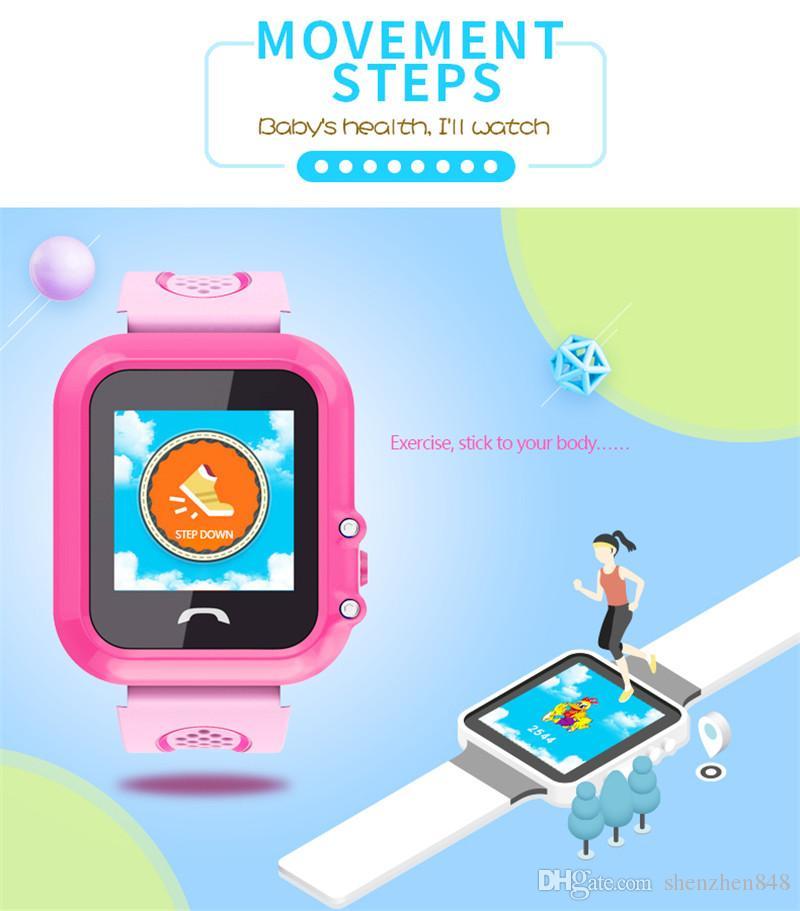 DF27 IP67 Impermeabile bambini GPS GPS telefono intelligente orologio SOS Chiamata posizione dispositivo Tracker bambini sicuro monitor anti-perso