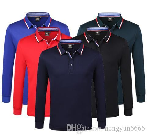 High End Cotton Long Sleeved Polo Shirt Embroidery Turtleneck T