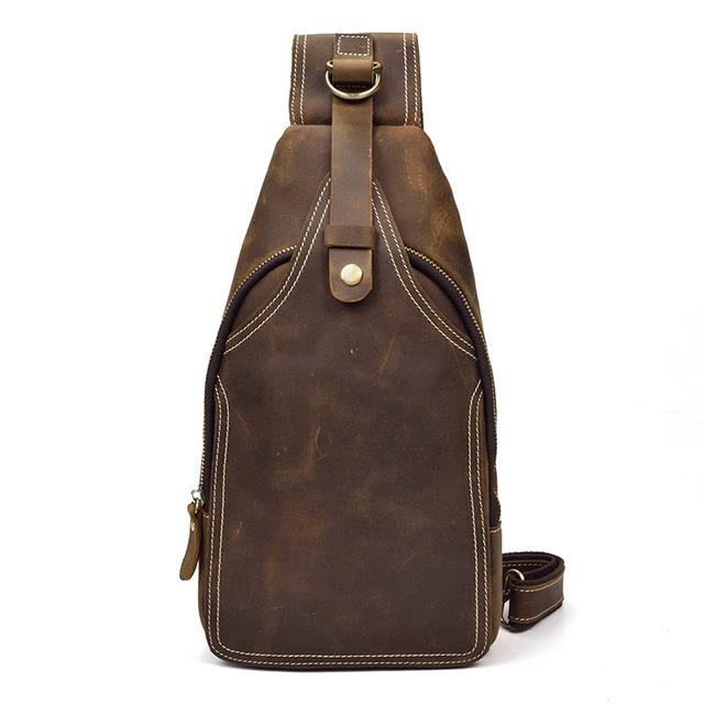 Luufan Men Crazy Horse Leather Casual Vintage Chest Bag Sling Bag Design One  Shoulder Crossbody For Male Over The Shoulder Bags Ivanka Trump Handbags  From ... b1ebab6fba771