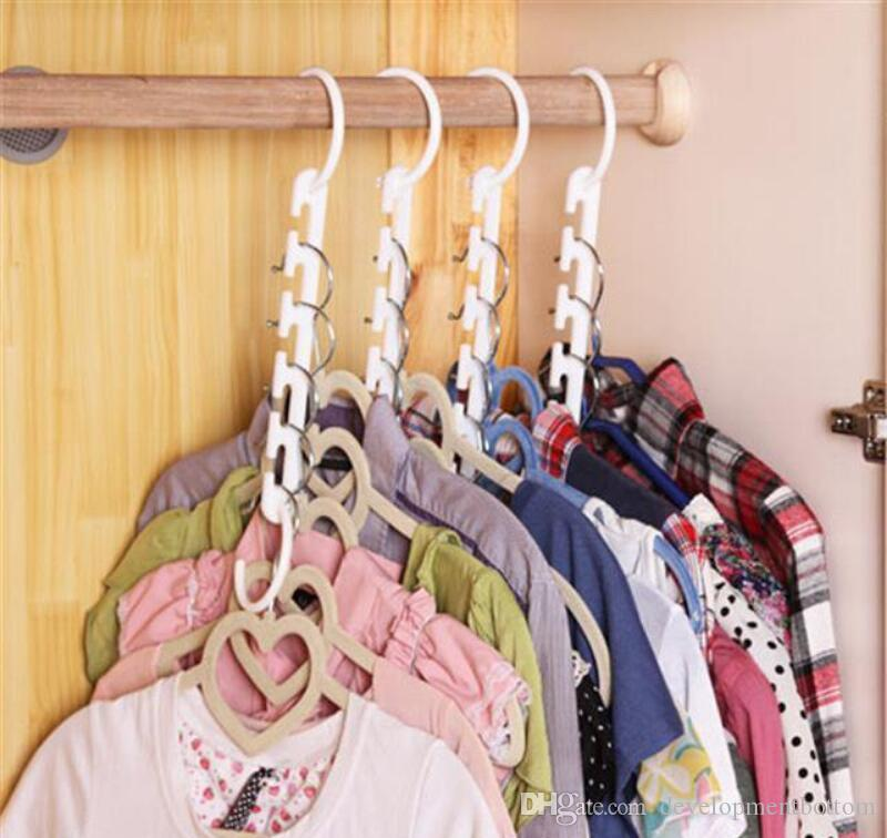 Magic Clothes Hanger 3D Space Saving Clothing Racks Closet Organizer with Hook