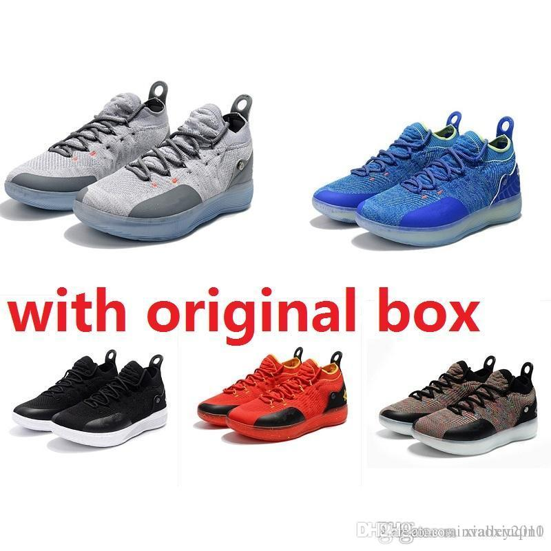 arrives 124a2 5bc62 2019 Cheap New Women KD 11 Shoes Basketball For Sale MVP BHM Mens Kevin  Durant Xi Low Kids Boys Boots Sneakers With Original Box From  Rainvalley2010, ...